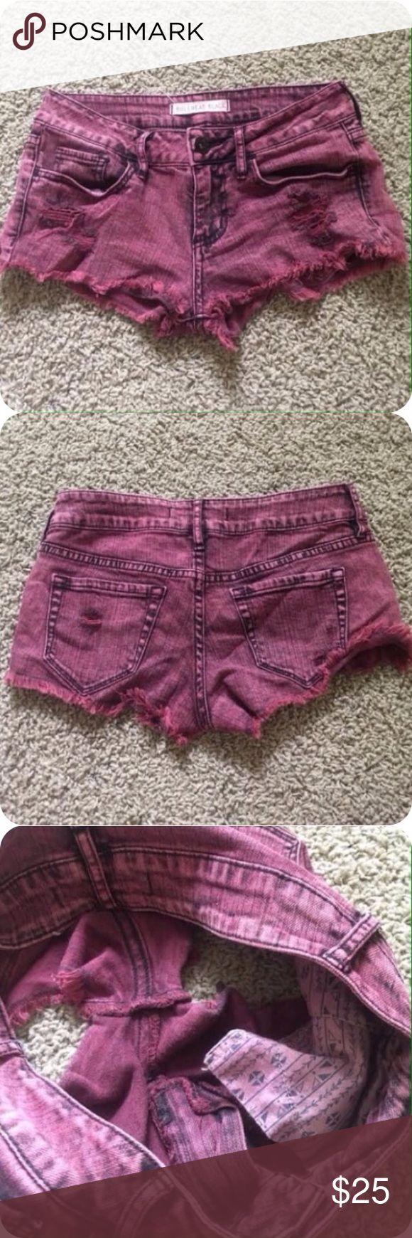 Bullhead Maroon Shorts Worn twice. In excellent condition. Bullhead Shorts Jean Shorts