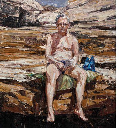 Nicholas Harding - Rex at Maroubra 2011 Oil on Belgian linen 168x153cm Artists Collection