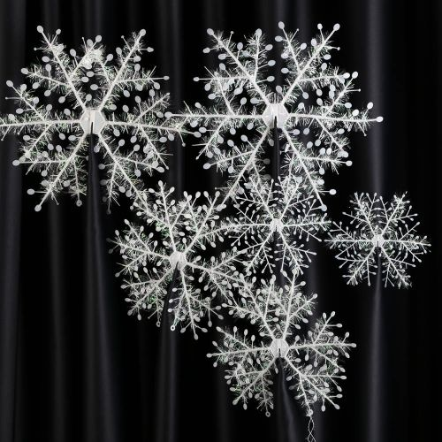 6pcs 27cm Christmas Tree Honeycombs Tissue Paper Trees: 25+ Best Ideas About 3d Snowflakes On Pinterest