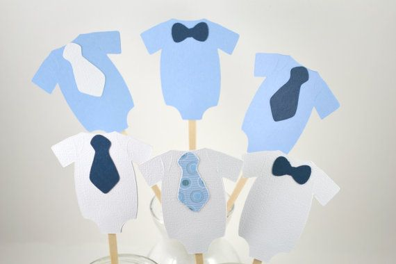 Little Man Cupcake Toppers-Little Man Birthday Party-Little Man Baby Shower-Little Man Body Suit on Etsy, $6.50