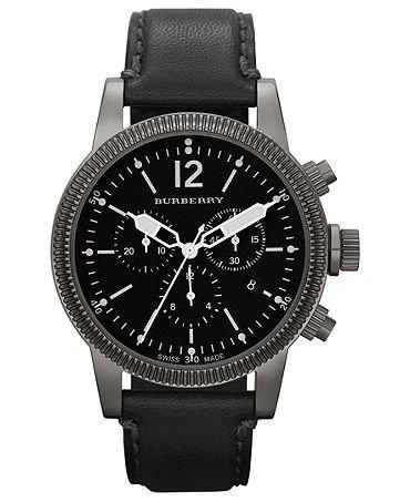 Burberry Watch, Swiss Chronograph Black Leather Strap 42mm BU7813 Burberry, http://www.amazon.com/dp/B00BAWP192/ref=cm_sw_r_pi_dp_j5Nkrb03NDGGC
