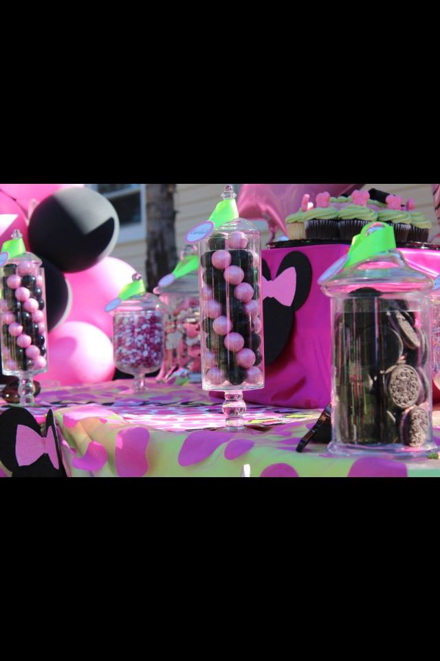 Candy bar Minnie Mouse 4 th birthday party