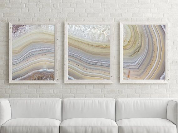 Set of 3 Agate Prints You get the set posted with this listing To Note: Some Sizes will Crop when printed  ➤ These Sizes Will Not Crop when