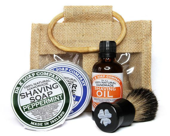 Father's Day Gift Idea - Deluxe Shaving Set For Men, Shaving Kit For Him, Shaving Soap, Shaving Brush, Aftershave, Shaving Oil