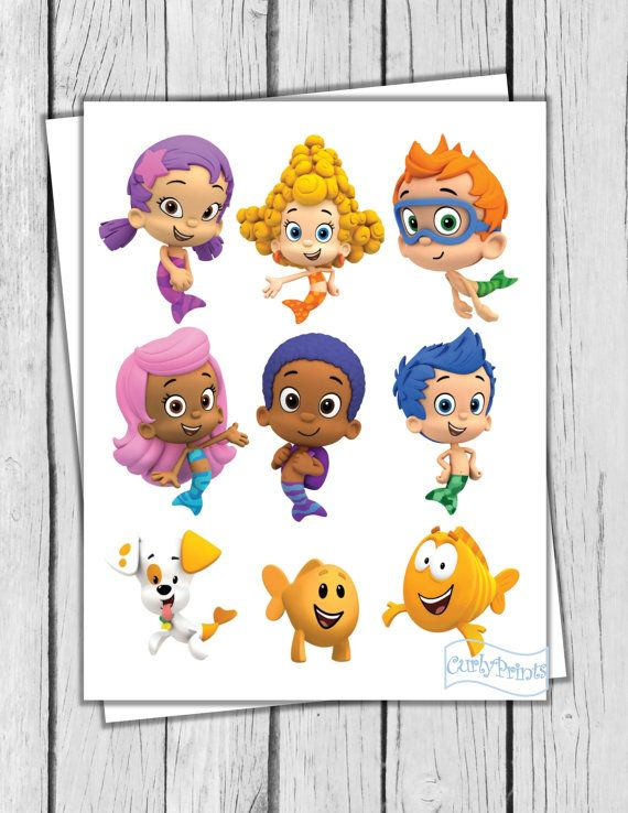 Bubble Guppies props centerpieces decorations DIY by CurlyPrints