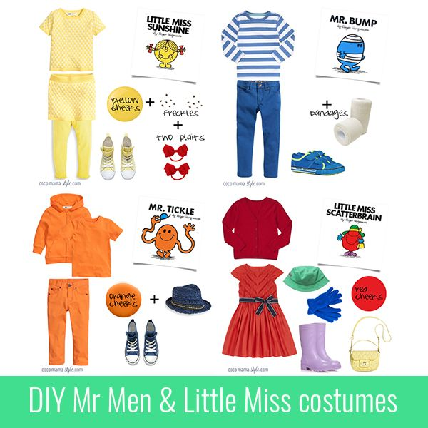 5 easy DIY mr men and little miss costumes for world book day #worldbookday #pbloggers
