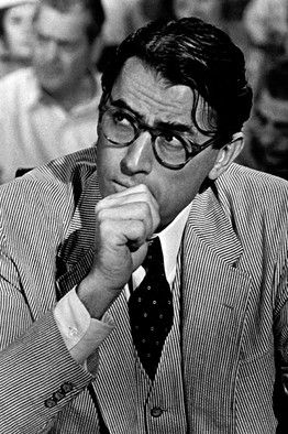Gregory Peck in one of the greatest movies ever, TO KILL A MOCKINGBIRD! http://www.smartbuyglasses.com/designer-eyeglasses/general/--Round---------------------?utm_source=pinterest&utm_medium=social&utm_campaign=PT post