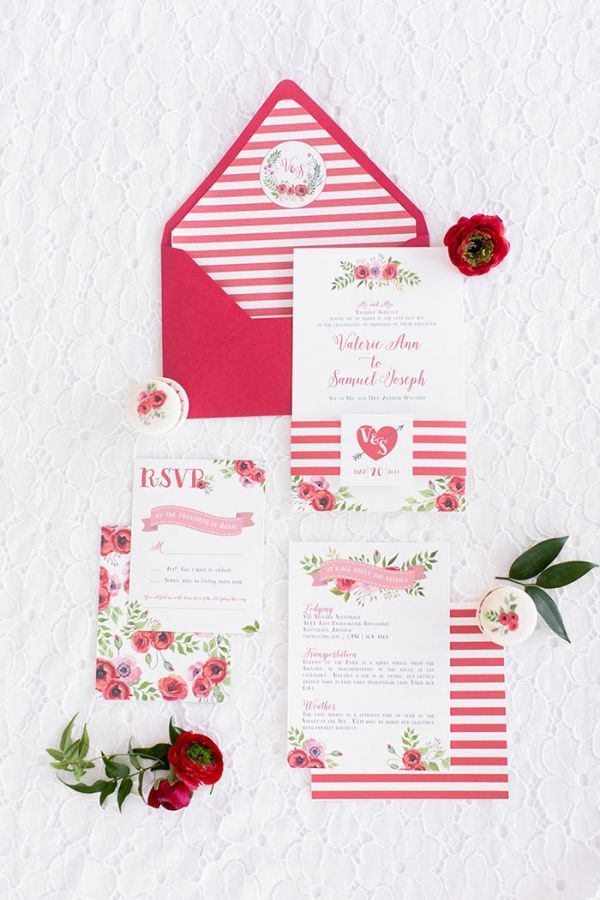 wedding invitations east london south africa%0A Poppy Red Retro Wedding Shoot