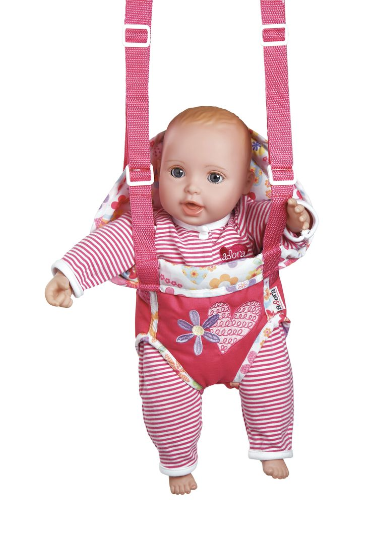 GiggleTime Baby - Fuchsia - Adora GiggleTime babies...just give them a hug and they have a contagious giggle. At just over 16 ounces Giggle Time babies are easy to take along in their very own baby carrier. You will adore them from their little button noses...to their tiny little hands and feet. They are perfect for cuddling with their soft doeskin body and bean bag weighted bottom.