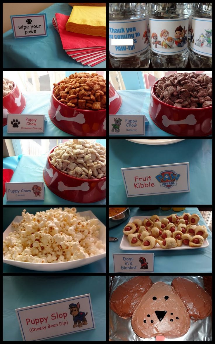 PAW Patrol / Puppy Party - food ideas!