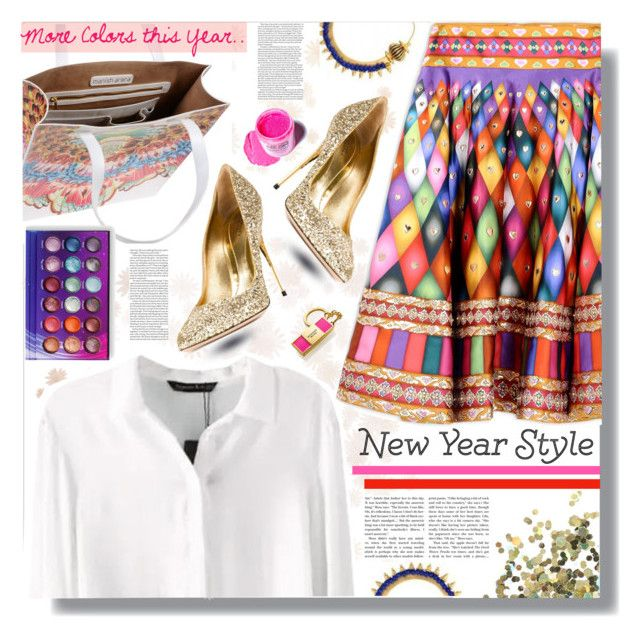 """""""New Year's Style Resolution"""" by prigaut ❤ liked on Polyvore featuring Manish Arora, ASOS, Sebastian Milano, Topshop, Estée Lauder, Medusa's Makeup, women's clothing, women, female and woman"""