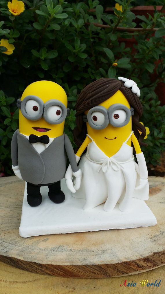 Minions wedding cake topper clay doll Minion in suit by AsiaWorld