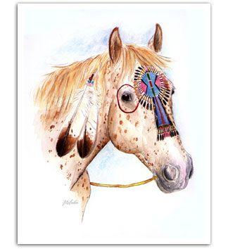 Native American War Horses | Appaloosa native american war pony horse art prints painting