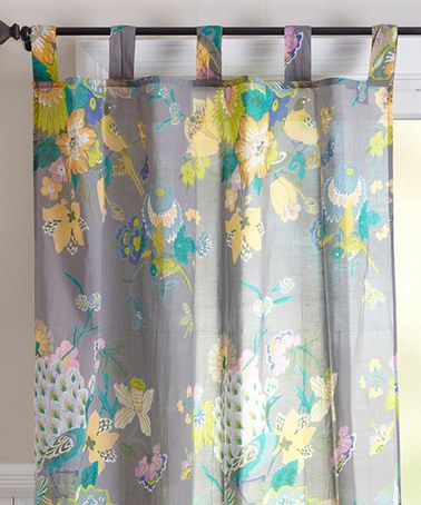 Karma Living Natural Botanic Print Curtain Panel
