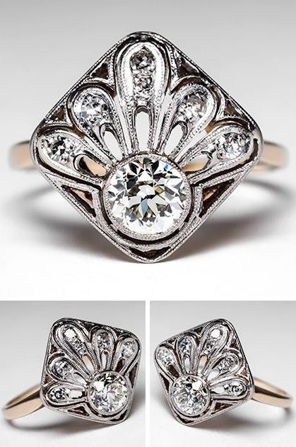 Vintage Art Deco Diamond Ring