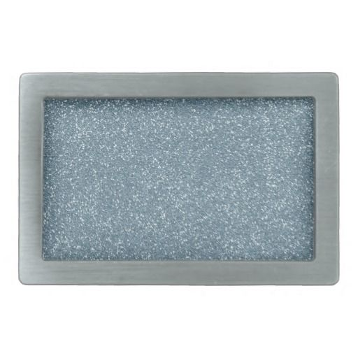 PANTONE Aquamarine baby blue with faux Glitter Rectangular Belt Buckles
