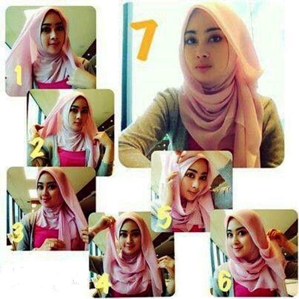 Pilih 1 dari 2 Tutorial Hijab Sederhana Segi Empat Yang Paling Tepat