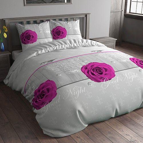 Sleeptime Wood Rose - Grijs/Paars  Rozen staan symbool voor schoonheid en liefde. Dit prachtige Sleeptime Essenstials Wood Rose dekbedovertrek roept dit beeld dan ook duidelijk op.  EUR 4.95  Meer informatie