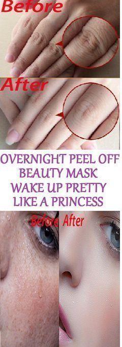 OVERNIGHT PEEL OFF BEAUTY MASK, WAKE UP PRETTY LIKE A PRINCESS..!!!