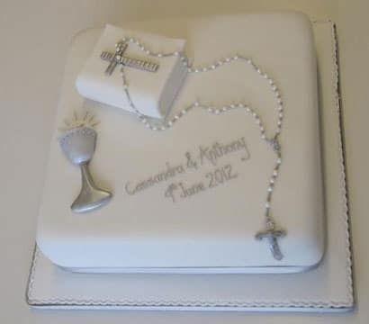 tortas de comunion para varon cuadradas