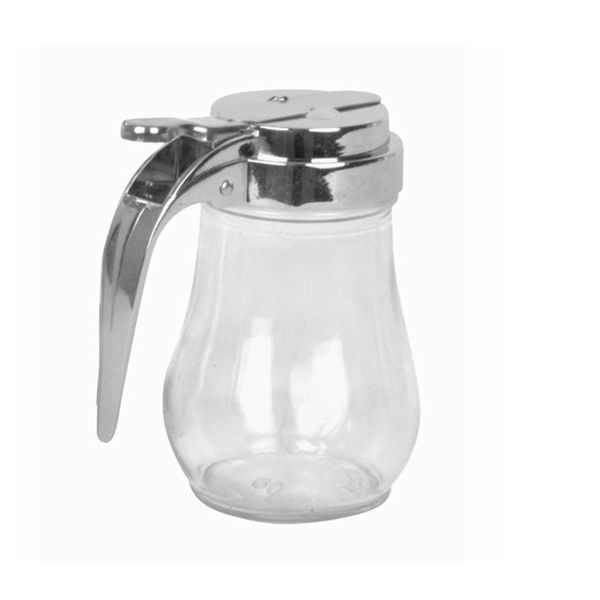 6 oz Glass Syrup Honey Dispenser Holder Clear Solid
