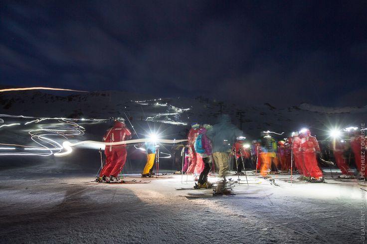 Sarenne by Night - Alpe d'Huez   Tous les mercredis de la saison d'hiver !  Every wednesday of the winter season !