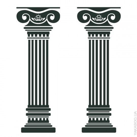 Виниловый стикер Glozis Columns 150х100 см (Е-048) - купить товар для дома и интерьера   Интернет-магазин Yakaboo.ua