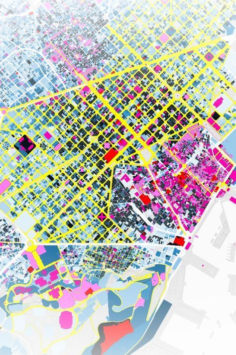 """Big Time BCN"" - an interactive map of the architectural heritage of Barcelona, by the design firm ""300.000 km/s"""