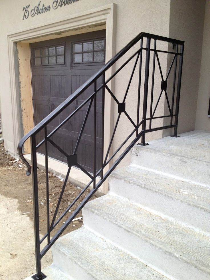 Best Jag Iron Railings Exterior In 2019 Porch Handrails 400 x 300