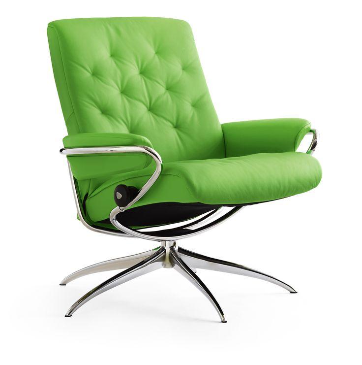 Ambiente Furniture   Ekornes Stressless Metro Low Back Leather Recliner