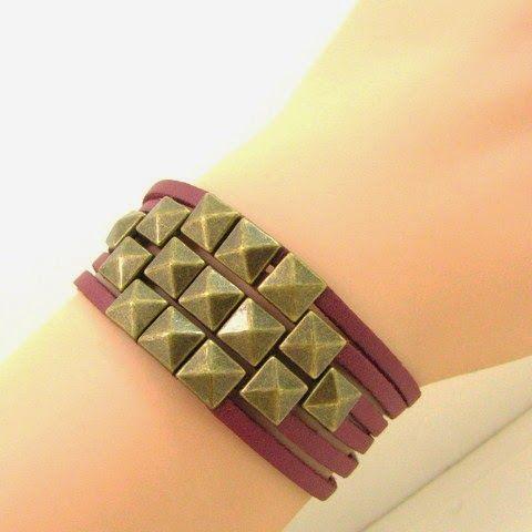 Mon bijou facile: Tutoriel bracelet clous