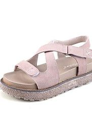Women's+Sandals+Gladiator+Creepers+Comfort+PU+Microfibre+Spring+Casual+Khaki+Light+Pink+White+Flat+–+CAD+$+150.51