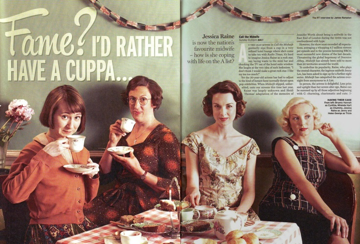 Hard working ladies with excellent hair - Call the Midwife