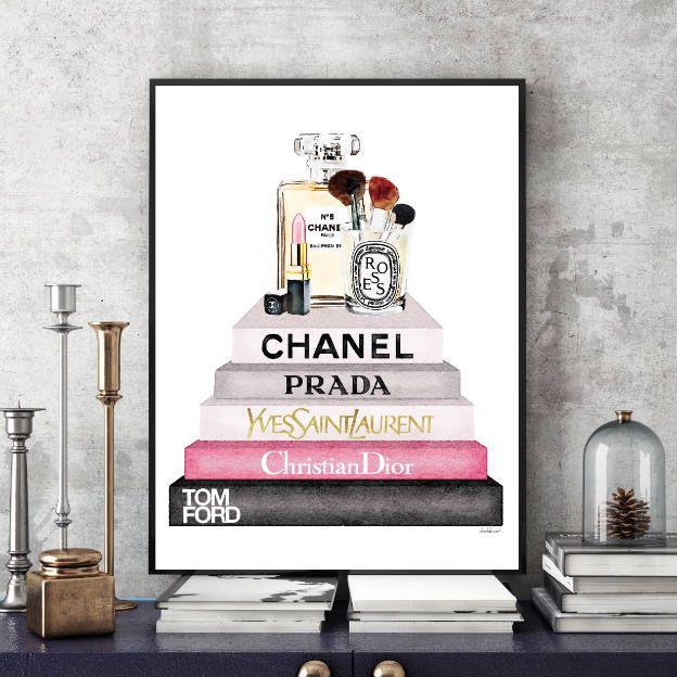Designer Fashion Art watercolour designer shoes office bedroom print