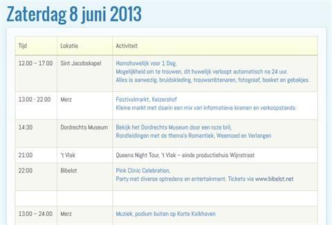 Volledige agenda Dordrecht Pride bekend!