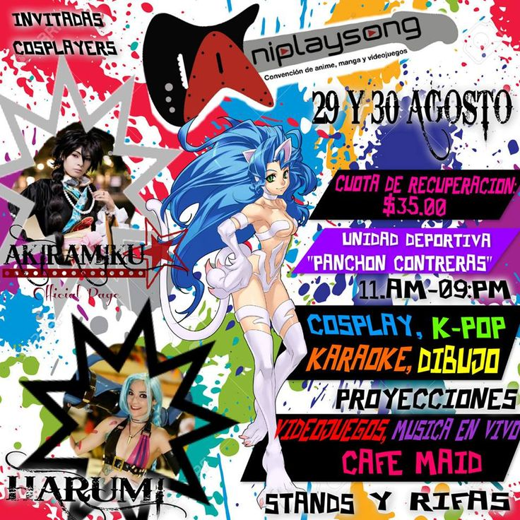 ANIPLAYSONG 2.0 2015 - Tuxtla Gutiérrez, México, 29 y 30 de Agosto 2015