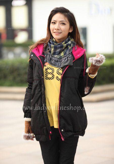 Fashion Autumn Maternity Black Cotton Jacket in 2013