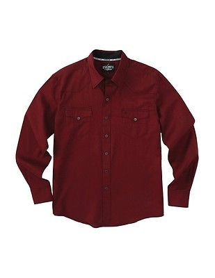 Cinch Western Shirt Mens L/S Garth Brooks Sevens S Burgundy HTW4002002