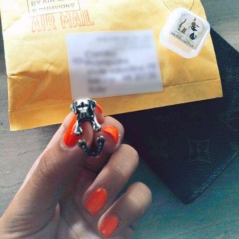 Our Labrador ring as seen on @prampolini_c! So glad you liked it!   #animaljewelry #dotoly #labrador #labradordog #dogs #doglovers #animallovers #animalthemedgifts #stockingstuffers #cute #happycustomers #aww