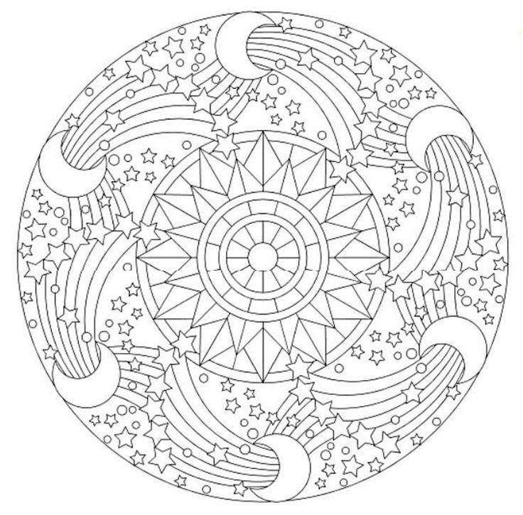 Mandala 644 Creative Haven Groovy Mandalas Coloring Book Dover Publications