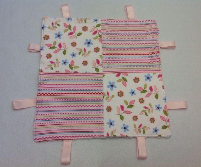 Pink Stripes Taggie Snuggle Blanket £5.50