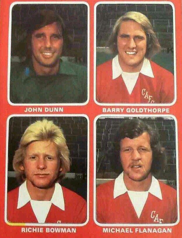 Stars of Charlton Athletic in 1975.