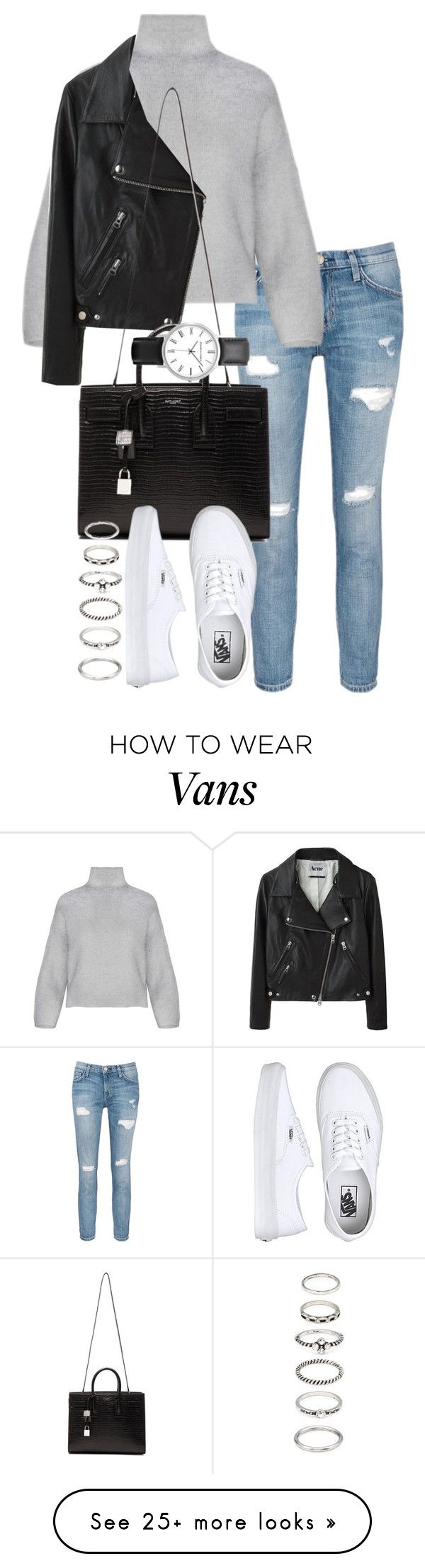 """""""Unbenannt #1406"""" by tyra482 on Polyvore featuring Current/Elliott, Acne Studios, Yves Saint Laurent, Vans and Forever 21"""