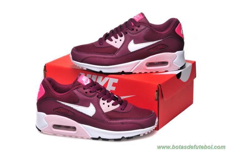 size 40 af367 f5b42 ... Nike Air Max 90 Rosa Vermelho Branco Mulheres chuteiras para vender   botas de futebol ...
