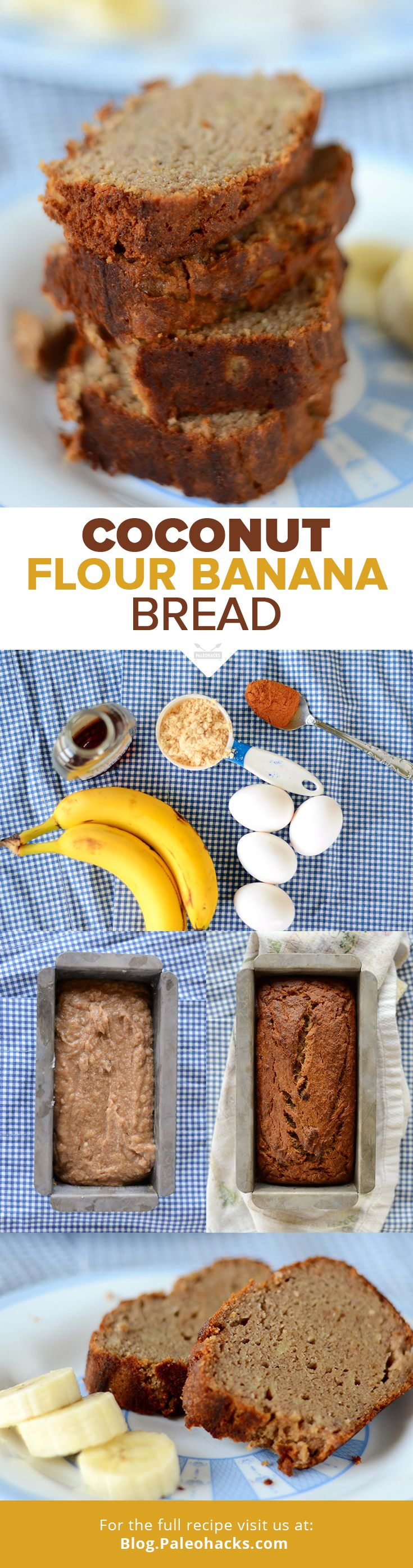 Want a super easy treat that uses up those ripening bananas on your counter? Try this recipe for Paleo Banana Bread. It bakes up soft, moist, fluffy, and sweet! For the full recipe visit us here: http://paleo.co/CFNanaBread #paleohacks #paleo