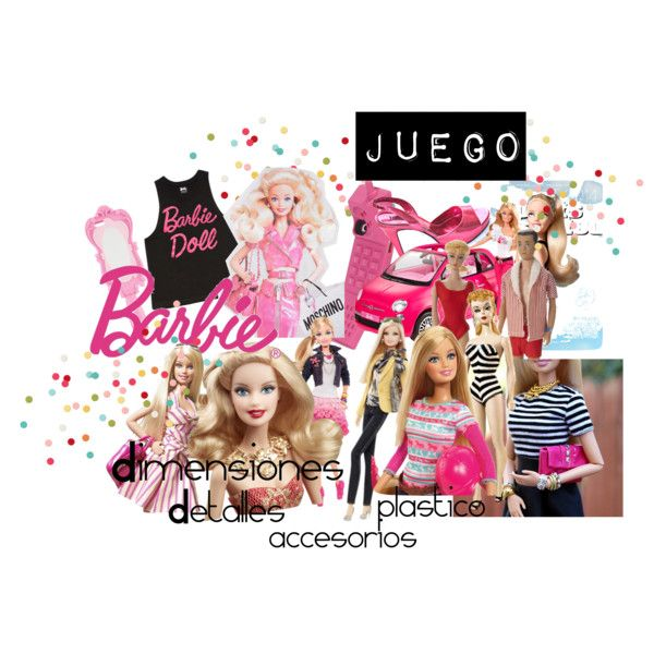 Barbie ON by maygomezp on Polyvore featuring moda, Moschino and Forever 21