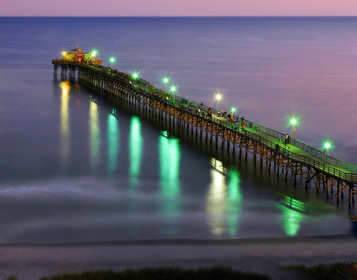 The Cherry Grove Pier in North Myrtle Beach, South Carolina.