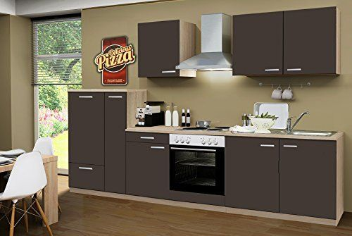 Küchenzeile Komplettküche Küche Herford 300 cm mit E Geräten TOP NEU %
