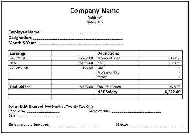 Employees Salary Slip] Cash Receipt Template Free Word Templates ...