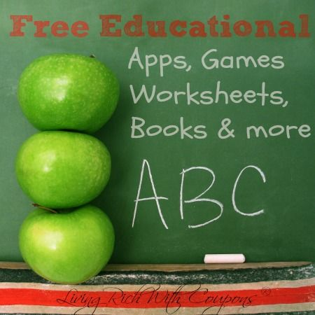Free Educational Apps, Games, Worksheets, Books -